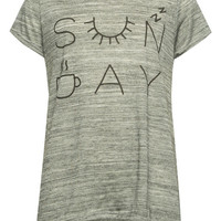 Full Tilt Sunday Icon Girls Sharkbite Tee Gray  In Sizes