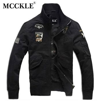 MCCKLE Men's Bomber Jackets Army Military Style Air Force Pilot Jackets Male Flight Jackets And Coats Plus Size M-XXXXL Q0176
