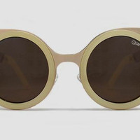 Quay Lets Dance Gold Sunglasses, Brown Lenses