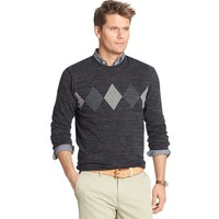 Van Heusen Argyle Crewneck Sweater - Men