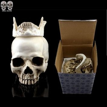 P-Flame Human Skull Replica Resin Model Medical Realistic 11x7x8.5cm Skeleton Collection Handicraft Home Decor For Decoration