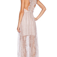 Alice + Olivia Julissa V Neck Dress in Blush
