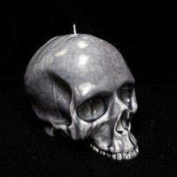 MARBLEIZED SKULL CANDLE at SKULL CASHMERE in GREY