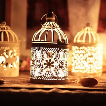 New arrival Decorative Moroccan Lantern Votive Candle Holder Hanging Lantern Vintage Candlesticks Home Decoration