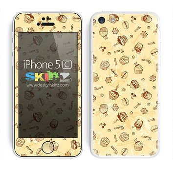 Vintage Cupcake treats Pattern Skin For The iPhone 5c