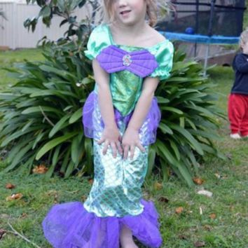 Little Mermaid Ariel Child Girl Dress Up Costume Size 3T-10