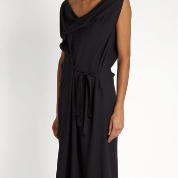 Twisted cowl-neck crepe dress | Vivienne Westwood Anglomania | MATCHESFASHION.COM UK