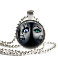 Bride of Chucky Horror Movie Silver Plated Picture Pendant Necklace