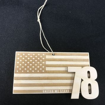 United We Stand #78 Laser Cut Ornament