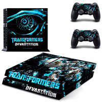 Transformers devastation design decal for ps4 console sticker