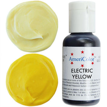 Neon Yellow Gel Paste Food Coloring
