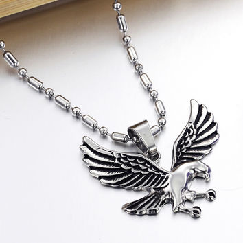 Stylish New Arrival Shiny Gift Men Jewelry Accessory Titanium Necklace [10422077315]