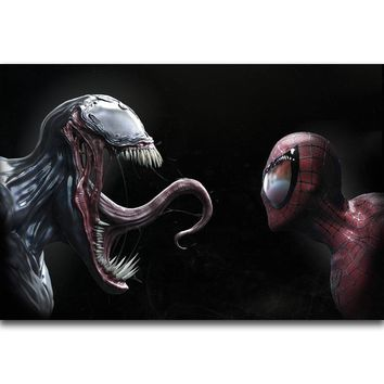 S2386 Venom And Spiderman Faceoff New Marvel 2018 Movie Wall Art Painting Print On Silk Canvas Poster Home Decoration