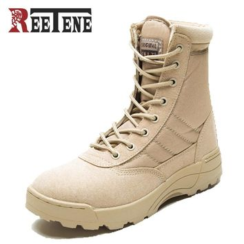 New Sport Army Men's Tactical Boots Desert Outdoor Hiking leather Boots Military Enthusiasts Marine Male Combat Shoes