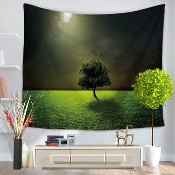 Painting Tree Wall Tapestry Home Decor Wall Hanging Tapestry Beach Towels Yoga Mat Picnic Blanket Throw Rug Carpet Free Shipping