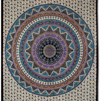 Elephants Ivory Circle Tapestry: Soul-Flower Online Store