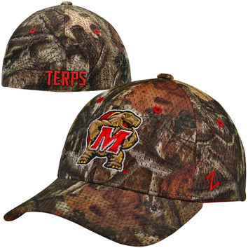 Zephyr Maryland Terrapins Full Draw Z-Fit Hat - Mossy Oak Camo
