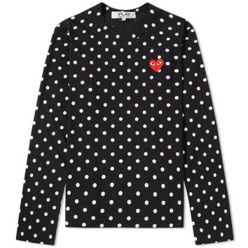 Comme des Garcons Play Women's Long Sleeve Polka Dot Tee