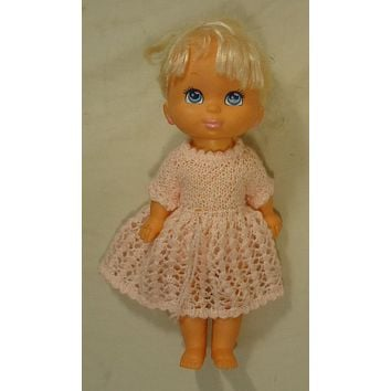 Grand Group 014-22gg Vintage Baby Doll with Crocheted Dress Plastic Fabric -- Used