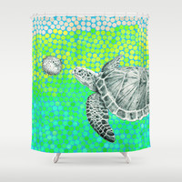New Friends 1 by Eric Fan and Garima Dhawan Shower Curtain by Eric Fan