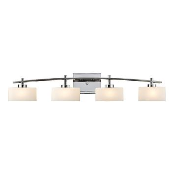 Eastbrook 4-Light Vanity Lamp in Polished Chrome with Opal White Glass