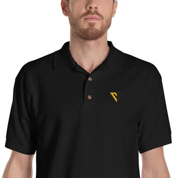 Voluntaryist V Embroidered Polo Shirt