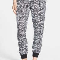 Junior Women's h.i.p. Floral Print Knit Jogger Pants