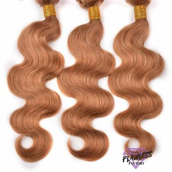 3 bundles of Honey Blonde (#27) Brazilian Body Wave Hair Extensions