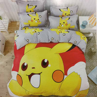 Pokemon Bedding Set Cotton Bedlinen Pillowcase Duvet Cover Set For Baby Kids Adult Printed 3D Bedding Sets Queen Full Twin Size