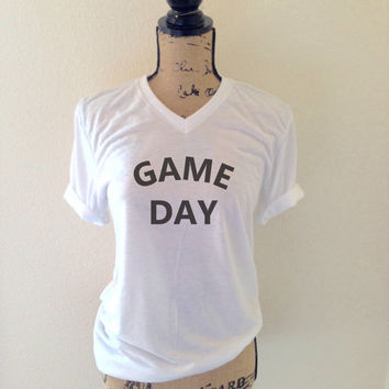 Womens Game Day Tank Top in Heather Grey - Comfortable, Soft Game Day Shirt - Sport Tank - Soccer, Baseball, Basketball, Football