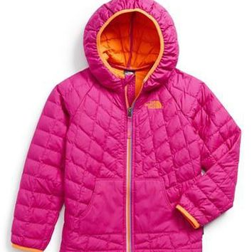 The North Face Toddler Girl's 'ThermoBall' PrimaLoft Hooded Jacket,
