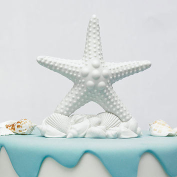 Starfish Shells Cake Topper