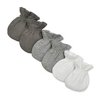 Burt's Bees Baby® 3-Pack Mitts in White/Grey