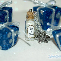 Let It Snow Magical Christmas Necklace with a Snowflake Charm by Life is the Bubbles Christmas in July