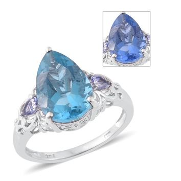 Color Change Fluorite Sterling Silver Ring