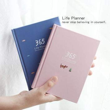 2018 Planner Notebook 365 Days Personal Diary Weekly Planner Note book Organizer School Stationery Cactus Agenda Journal Notepad