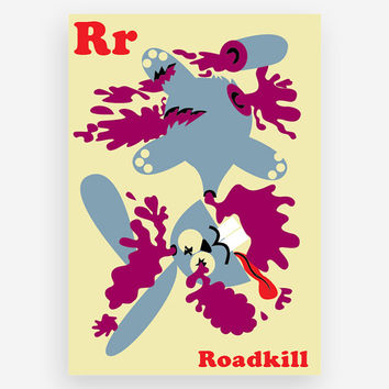 R is for Roadkill Print