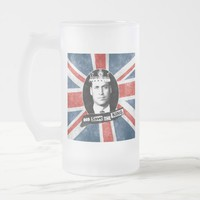 God Save The King - Prince William Frosted Glass Beer Mug