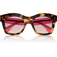 Fendi - Two-tone D-frame acetate sunglasses