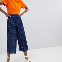 Monki Wide Leg Pleated Trousers at asos.com