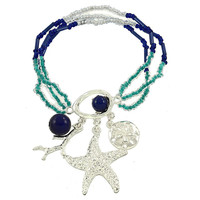 Adorn by LuLu- Under the Sea Bracelet in Summer Blue