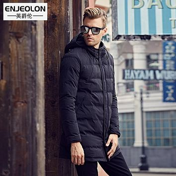 Winter Cotton Padded Hooded long Jacket Men,Quilted windproof parka Men Clothing Thick Men Coat