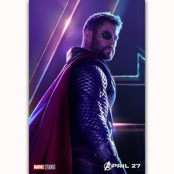MQ3565 Avengers Infinity War Thor 2018 DC Movie Characters Film Art Poster Silk Canvas Home Decoration Wall Picture Printings