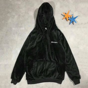 Champion Fashion Velvet Hoodie Top Sweater Pullover3