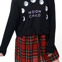 Phases of the Moon Child Sweatshirt
