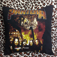 PANTERA - Upcycled Pillow Case Made from a T-shirt - OOAK