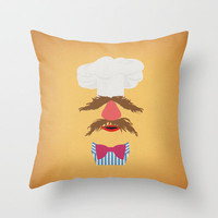The Muppets Show Vintage Art Swedish Chef Retro Style Minimalist Poster Print Throw Pillow by The Retro Inc
