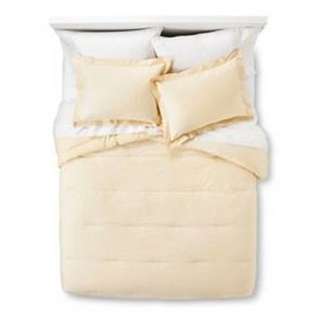 Scalloped Print Comforter & Sham Set Yellow - Threshold™