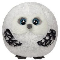 Ty Beanie Ballz Hoots Owl Plush, Medium