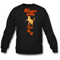 SLEEP WITH CAT SWEATSHIRT CREWNECKS